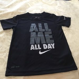 """Nike Black """"All Me All Day"""" Shirt.  Size 6"""